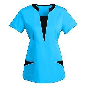 Frauen Kurzarm V-Ausschnitt Tops Arbeitsuniform, Krankenschwester Uniform