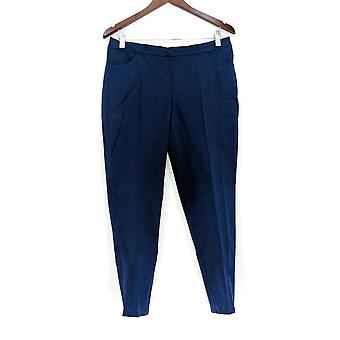 Isaac Mizrahi Live! Frauen's Petite Hose Stretch Slim Bein dunkelblau A309567