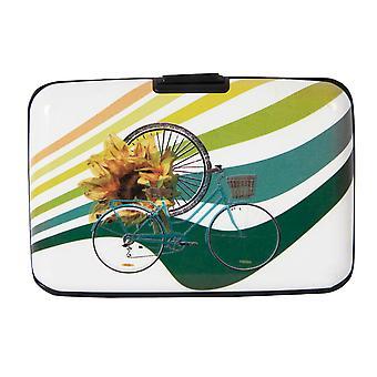 Biggdesign Metal Cover Card Holder, 6 Different Sections, Colorful Design, Metal Card Holder, Security Lock
