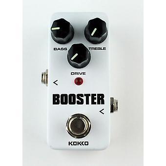 Mini Booster Pedal Bærbar 2-bånds utjevnet gitareffekter av høy kvalitet