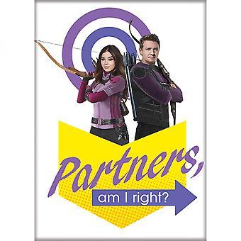 Marvel Studios Hawkeye Series Partners, Am I Right? Magnet