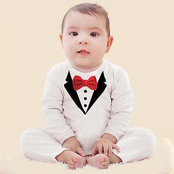 Infant Baby Boy Costume Formel Tuxedo Romper Party Combinaison de mariage