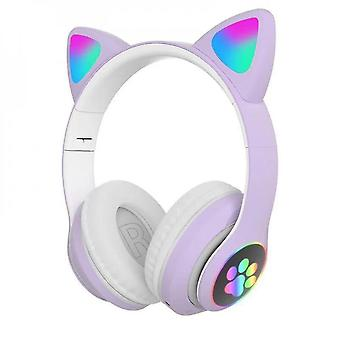 Casque bluetooth sans fil Cat Ear Headset with Led Light