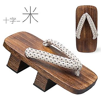 Clogs Slippers, Two Chinese Cosplay Costumes, Japanese Clogs Slippers, Platform Flip-flops-beige