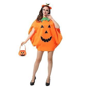 Halloween Pumpkin Costume Set Party Costume Children Adult Costume