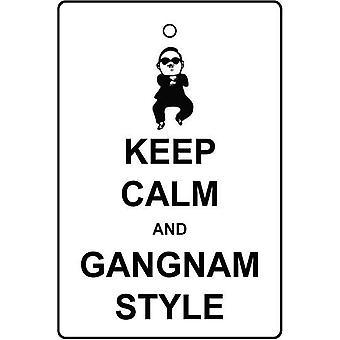 Ruhe zu halten und Gangnam Stil Auto Lufterfrischer