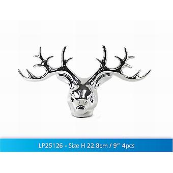 "Silver Art Reindeer 18"" Christmas Decorative Ornament Gift"