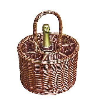 Small Deluke Single Bottle Drinks Basket