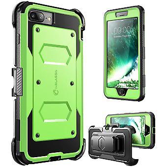 i-Blason-iPhone 7 Plus tapauksessa [Armorbox] rakennettu Bumper Case-vihreä