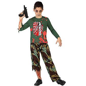 Pour enfants costumes costume de garçon armée Zombie