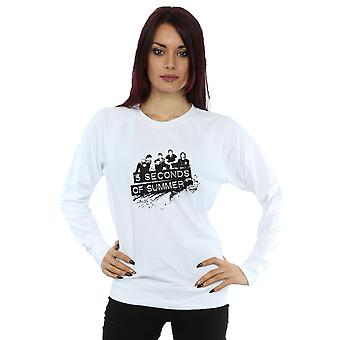 5 Seconds Of Summer Women's Black Splatter Sweatshirt