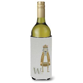 Alfabeto W per Lupo bottiglia di vino Beverge isolante Hugger