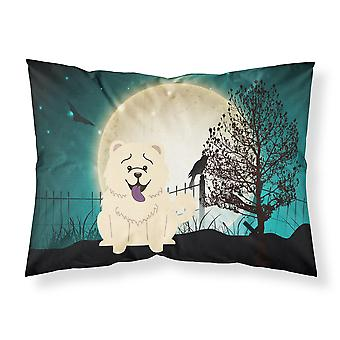 Halloween Scary Chow Chow White Fabric Standard Pillowcase