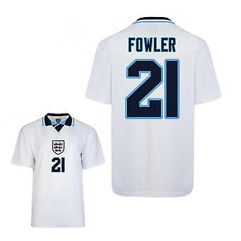 Pisteet tehdä Englanti Euro 1996 koti paita (Fowler 21)