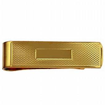 9ct Złota 15x52mm centrum przestrzeni silnika zwrócił pieniądze klip