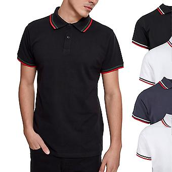 Urban classics - double Stripe Polo Shirt