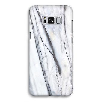 Samsung Galaxy S8 volledige Print geval (Glossy) - Striped marmer