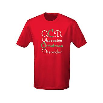 OCD Obsessive Christmas Disorder Xmas Kids Unisex T-Shirt 8 Colours (XS-XL) by swagwear