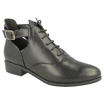 Spot på dame/damer lav hæl Lace op ankelstøvler