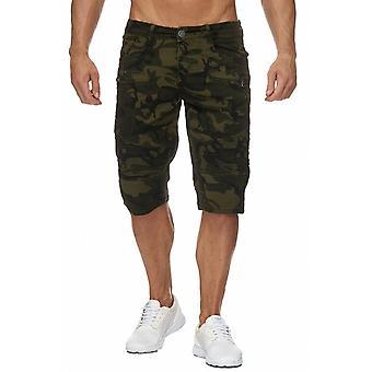 Mens Bermuda Short Biker Style Camouflage Knee Length