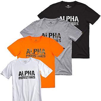 Alpha industries t-paita Camo tulostaa
