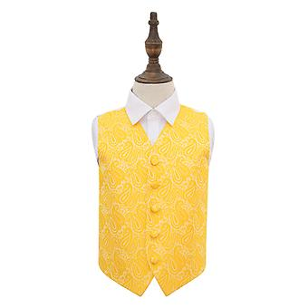 Gold Paisley Wedding Waistcoat for Boys