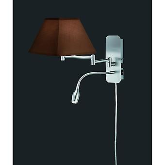 Trio Lighting Hotel Modern Nickel Matt Metal Wall Lamp