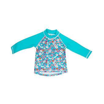 Banz meisjes UV Long Sleeved uitslag Top - bloemen