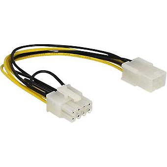 Delock Current Cable [1x PCI-E plug 8-pin - 1x PCI-E socket 6-pin] 20.00 cm Yellow, Black