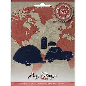 Finne det handel Amy Design kart Die-bil W/bobil