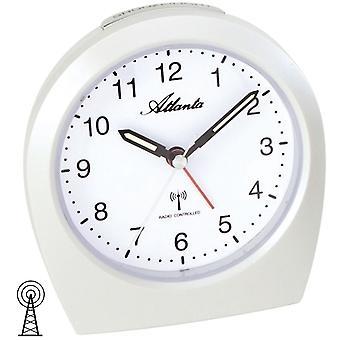 Atlanta crème 1824/0 wekker radio wekker snooze licht wit rustig zonder tikken