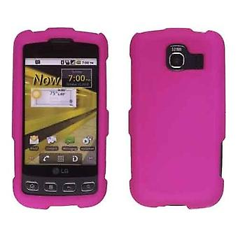 Two piece Soft Touch Snap-On Case Compatible with Optimus S LS670, Optimus U US670 - Pink