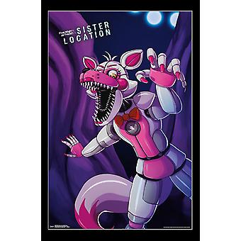 Five Nights At Freddys Sister Location - Funtime Foxy Poster Print