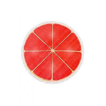 Frędzlami plaży rundy plasterek grejpfrut różowy ręcznik