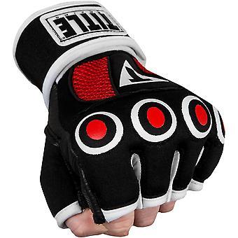 Titolo Boxing Gel Rage pugno formazione guanto wrap - nero/rosso