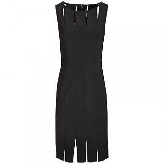 Frank Lyman Keyhole & Slit Sleeveless Shift Dress
