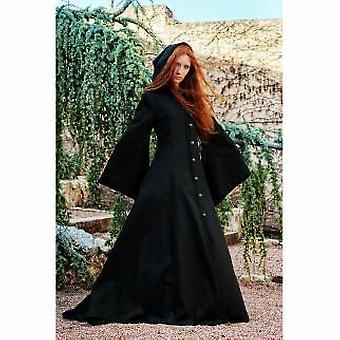 Edad media capa chaqueta las señoras traje trompeta manga con capucha capa Halloween gótico señoras traje