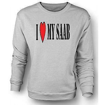 Mens Sweatshirt ich LoveMy Saab - Spaß-Auto