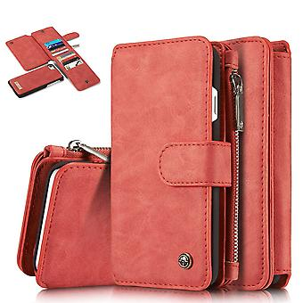 CASEME iPhone 8/7/SE Retro leather wallet case - Red