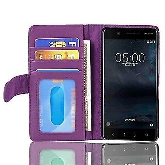 Cadorabo case for Nokia 5 2017 case case cover - phone case with magnetic clasp and 3 card pockets – Case Cover Protective Case Case Book Folding Style