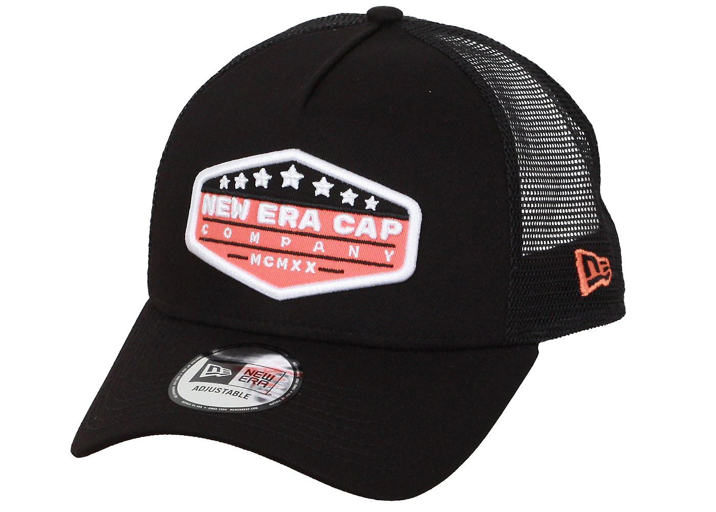 New Era Patch Trucker Cap ~ New Era black
