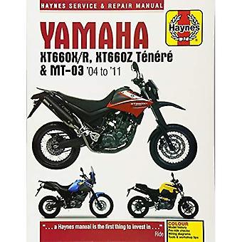 Yamaha XT660 & MT-03 Service et réparation manuel 2004-2011
