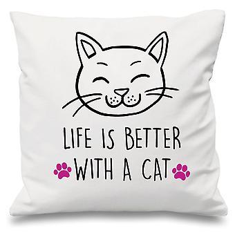 Coussin blanc couverture vie est mieux avec un Cat 16