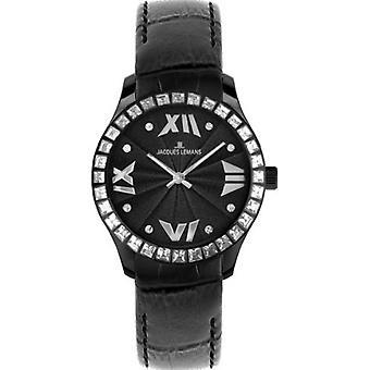 Jacques Lemans Rome analogique quartz wristwatches, des femmes, des bracelet en veau brun