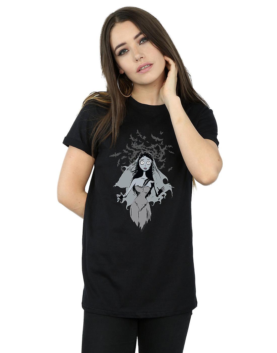 Corpse Bride Women's Crow Veil Boyfriend Fit T-Shirt