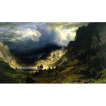 A Storm in t he Rocky Mountains, Mt, Albert Bierstadt, 60x35cm