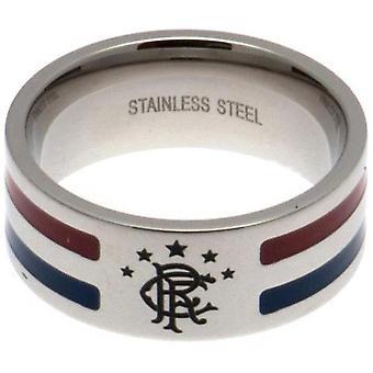 Rangers FC Medium Colour Stripe Ring
