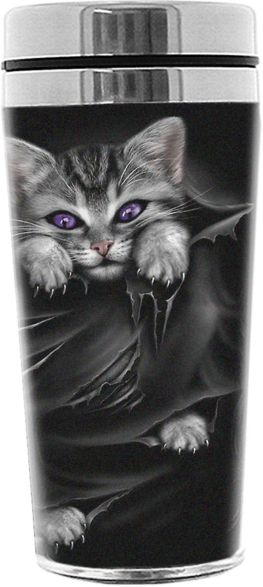Spiral Direct Gothic BRIGHT EYES - Thermo Travel Mug - Flask 0.45L|Cat|Rips|Cute