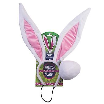 Jumbo Bunny Easter Rabbit Animal March Hare Womens Costume Ears Tail Kit