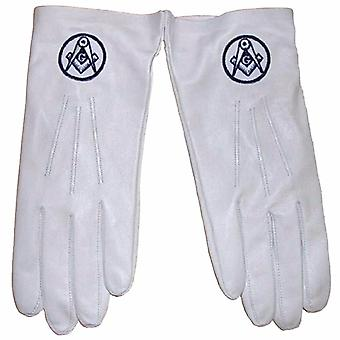 Soft Leather Masonic Gloves with Square Compass Embroidery